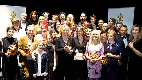 Guldbaggevinnarna på 2015 års gala. Foto: Patrik Österberg/Mediabild.nu